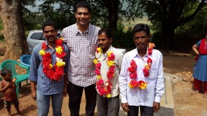 Abraham with Village officials